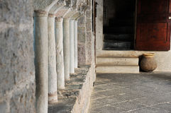 Detalhe 2 da abadia de San Fruttuoso Fotografia de Stock