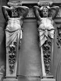 Detalhe da arcada de Pasajul Macca-Vilacrosse, Bucareste Imagens de Stock