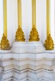 Detalhe da arquitetura de base budista velha do pagode Fotos de Stock