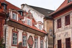 Detalhe da arquitetura de Cesky Krumlov Imagens de Stock Royalty Free