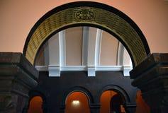 Detalhe da arquitetura em Matenadaran Imagens de Stock