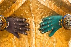 Detalhe da arquitetura Mão pintada do sta tailandês tradicional do estilo Foto de Stock