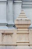 Detalhe da balaustrada de Wat (templo) em Tailândia Fotografia de Stock