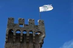 Detalhe da bandeira de Kamerlengo da fortaleza fotos de stock royalty free