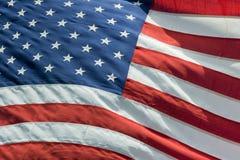 Detalhe da bandeira dos Estados Unidos da bandeira americana dos EUA Imagem de Stock