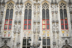 Detalhe da câmara municipal, Bruges Imagens de Stock