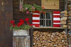 Detalhe da cabana em Tirol Fotografia de Stock Royalty Free