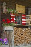 Detalhe da cabana em Tirol Imagens de Stock