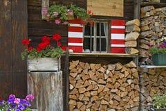 Detalhe da cabana em Tirol Imagem de Stock Royalty Free