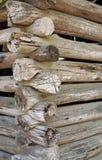 Detalhe da cabana rústica de madeira Imagem de Stock Royalty Free
