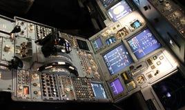 Detalhe da cabina do piloto de aviões Imagem de Stock
