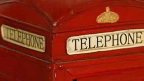 Detalhe da cabine de telefone Imagens de Stock