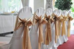 Detalhe da cadeira do casamento Fotografia de Stock Royalty Free