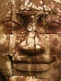 Detalhe da cara do Bodhisattva Avilokiteshvara ou da Buda - Camboja imagens de stock royalty free