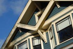 Detalhe da casa do estilo do artesão fotografia de stock royalty free