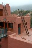 Detalhe da casa do povoado indígeno imagem de stock royalty free