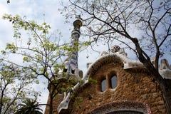Detalhe da casa no parque Guell Imagem de Stock