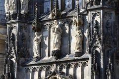 Detalhe da catedral de Aix-la-Chapelle, Alemanha Imagens de Stock Royalty Free