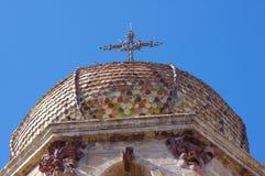 Detalhe da catedral de Oristano Imagem de Stock