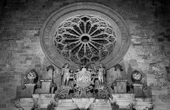 Detalhe da catedral de Otranto foto de stock