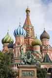 Detalhe da catedral do quadrado vermelho de Moscou Foto de Stock Royalty Free