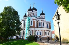 Detalhe da catedral em Tallinn velho, Est?nia fotografia de stock