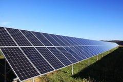 Detalhe da central eléctrica solar Imagem de Stock