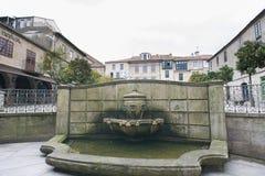 Detalhe da cidade da Espanha de Pontevedra fotos de stock