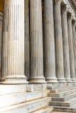Detalhe da coluna na constru??o neocl?ssico foto de stock royalty free
