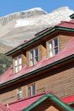 Detalhe da construção de log Foto de Stock Royalty Free