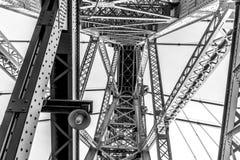 Detalhe da construção de ponte de Williamsburg Imagem de Stock