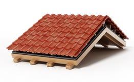 Detalhe da construção do telhado ilustração 3D Fotografia de Stock