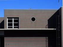 Detalhe da construção industrial com uma escada da segurança Fotos de Stock Royalty Free