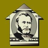Detalhe da conta de dólar cinqüênta Foto de Stock Royalty Free