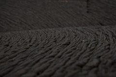 Detalhe da corda da lava do pahoehoe, Galápagos Fotos de Stock Royalty Free