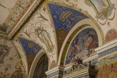 Detalhe da decoração da parede, museu de artes decorativas, Praga, República Checa fotos de stock royalty free
