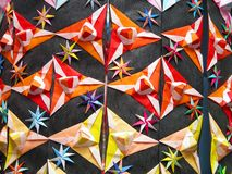 Detalhe da decoração de Origami Foto de Stock Royalty Free