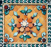 Detalhe da decoração de teste padrão da parede do mosaico fotos de stock royalty free