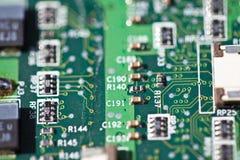 Detalhe da eletrônica fotografia de stock