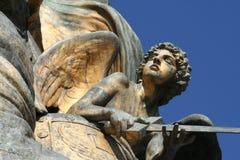 Detalhe da escultura de Venezia da praça fotografia de stock royalty free