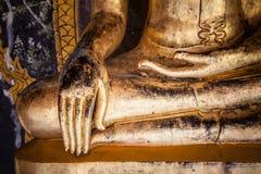 Detalhe da estátua da Buda imagens de stock royalty free