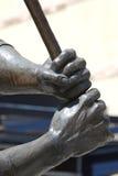 Detalhe da estátua do basebol fotografia de stock royalty free