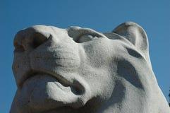 Detalhe da estátua do leão Fotografia de Stock Royalty Free