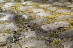 Detalhe da estrada da pedra imagens de stock