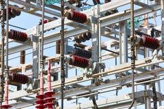 Detalhe da estrutura da central elétrica Planta de energia Produto bonde Imagens de Stock