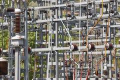 Detalhe da estrutura da central elétrica Planta de energia Produto bonde Imagem de Stock