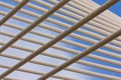 Detalhe da estrutura de ponte de suspensão moderna Imagem de Stock