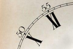 Detalhe da face do relógio Fotos de Stock