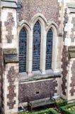 Detalhe da fachada da catedral de Southwark em Londres Fotos de Stock Royalty Free
