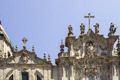 Detalhe da fachada da igreja de Carmelitas e da igreja de Carmo, em Porto Foto de Stock Royalty Free